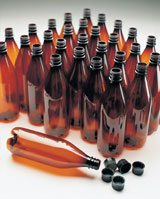home brewing kits - beer bottles