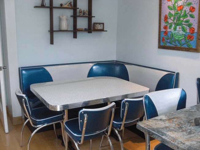 Banquette Bar Vintage Booth Seating: Island City, Retro, Kitchen, Home
