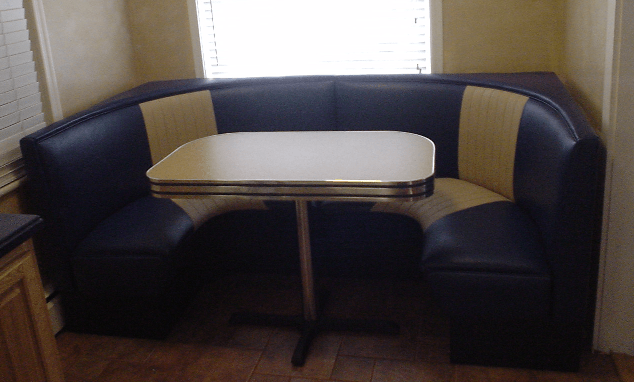 Retro Sofa American Half Circle Booths: Restaurant, Diner, Retro, 1950's, Kitchen