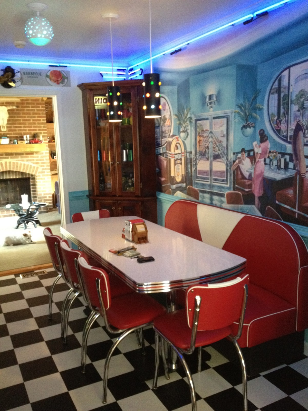 Küche Pastell 50er Retro Kitchen Ideas Diner Booth Chairs Tables Home Diner