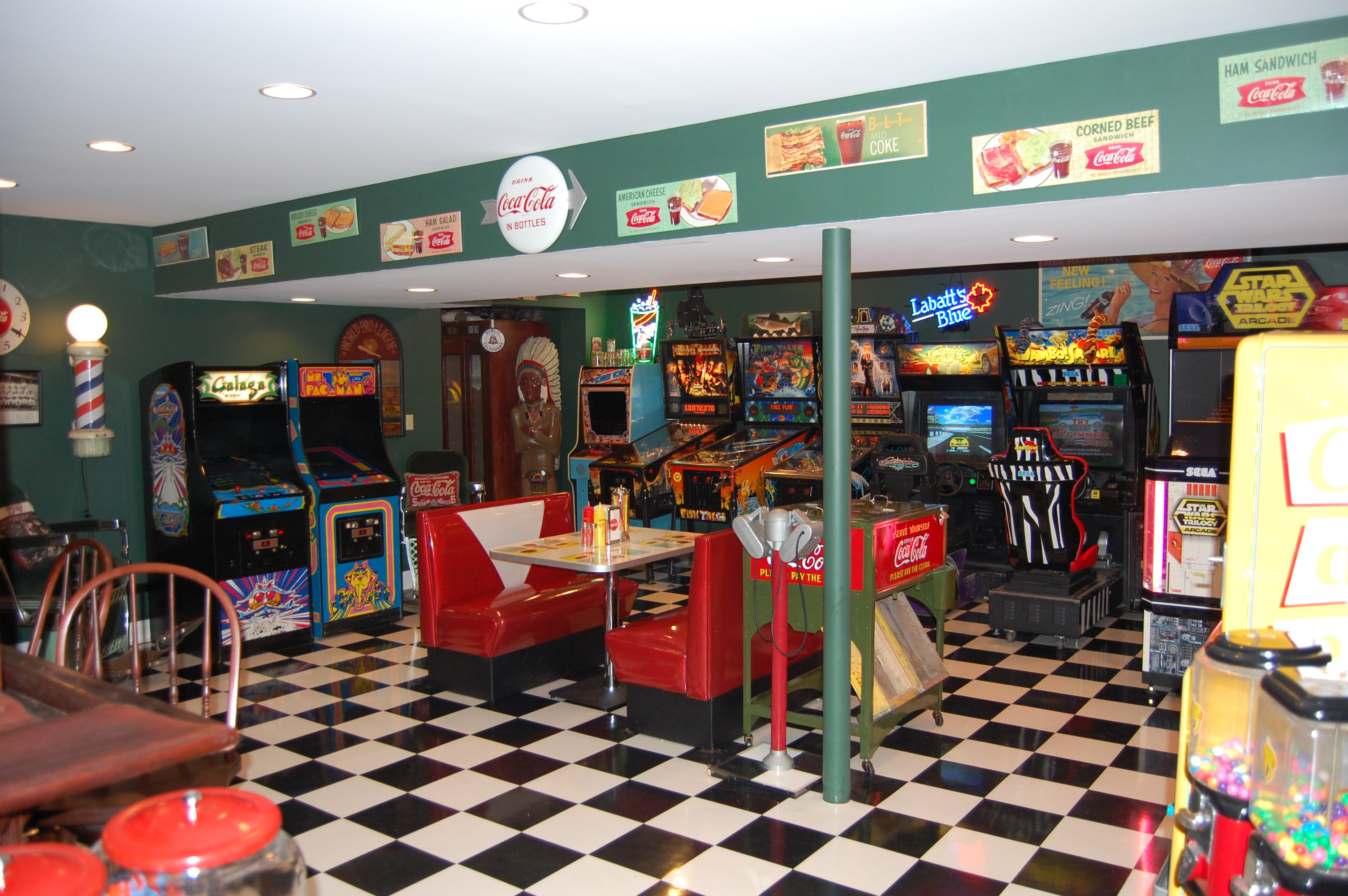 Houzz Advertising Mike's Retro Game Room: Front Royal Va, Retro Furniture