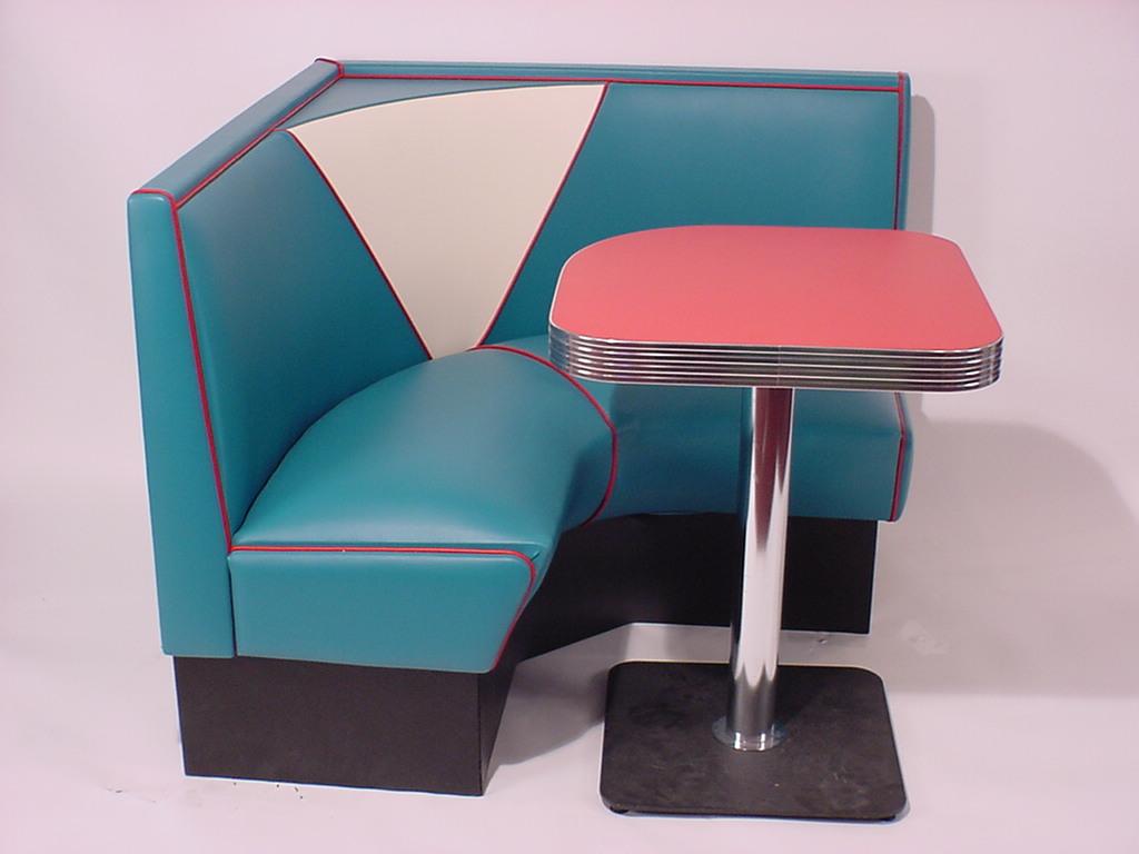 Vintage V 4300 1 4 L Shape Diner Booth Bars Booths