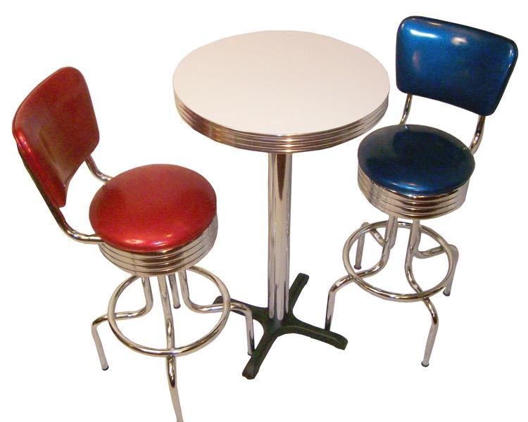 Pub Table Sets Retro Bar Kitchen Restaurant Diner Usa