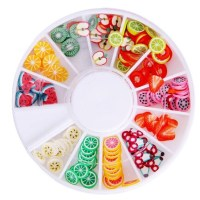 Nail Art Decoration ( Fimo fruit wheel ) - Online Shopping ...