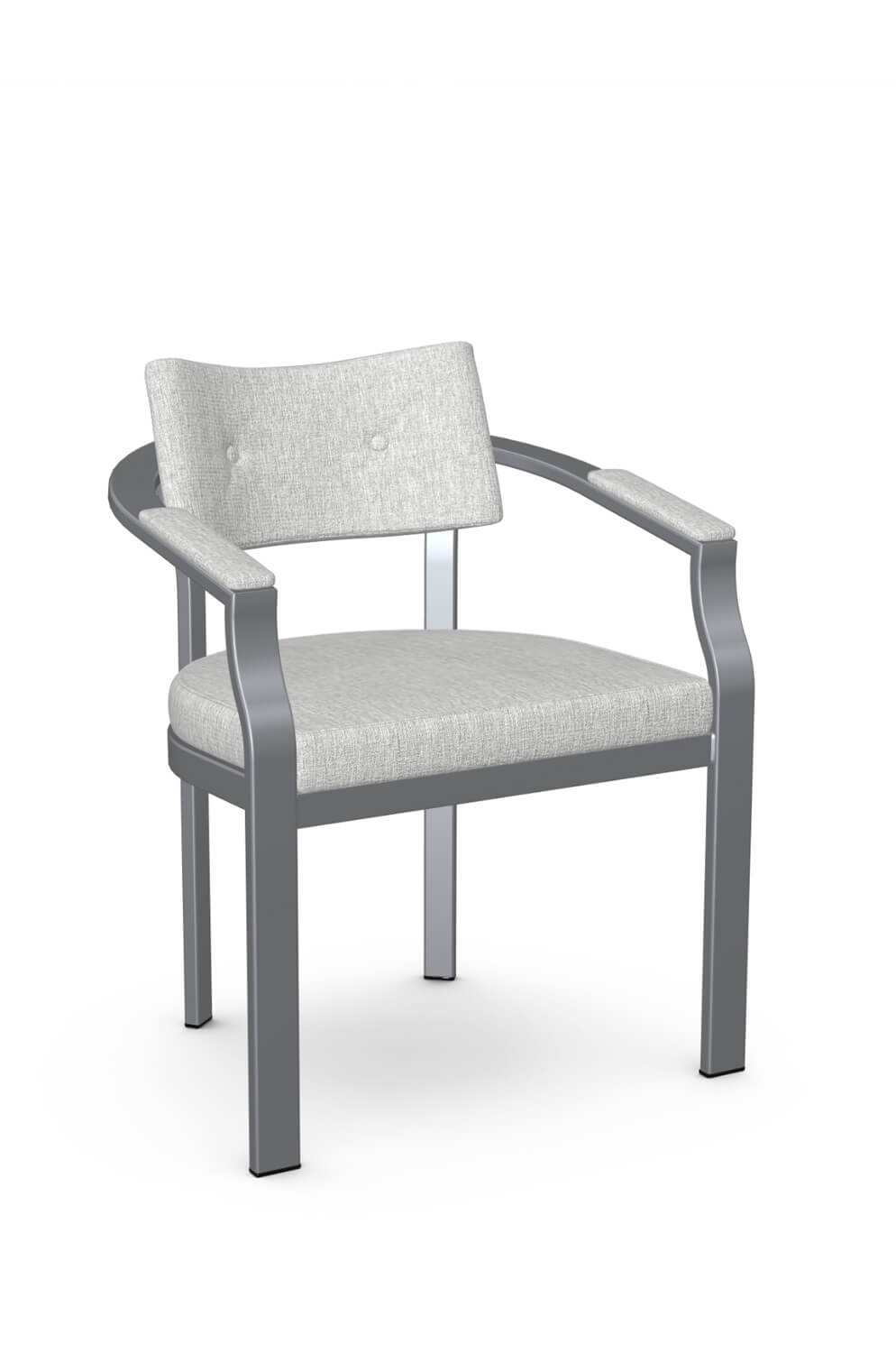 Amisco S Jonas Button Tufted Modern Dining Chair W Arms