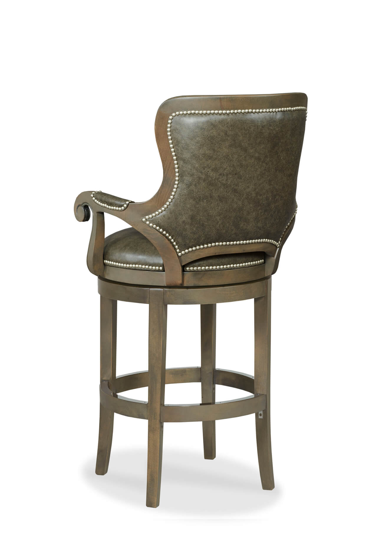 Comfortable Swivel Counter Stools Buy Spritzer Upholstered Wood Swivel Bar Stool W Arms