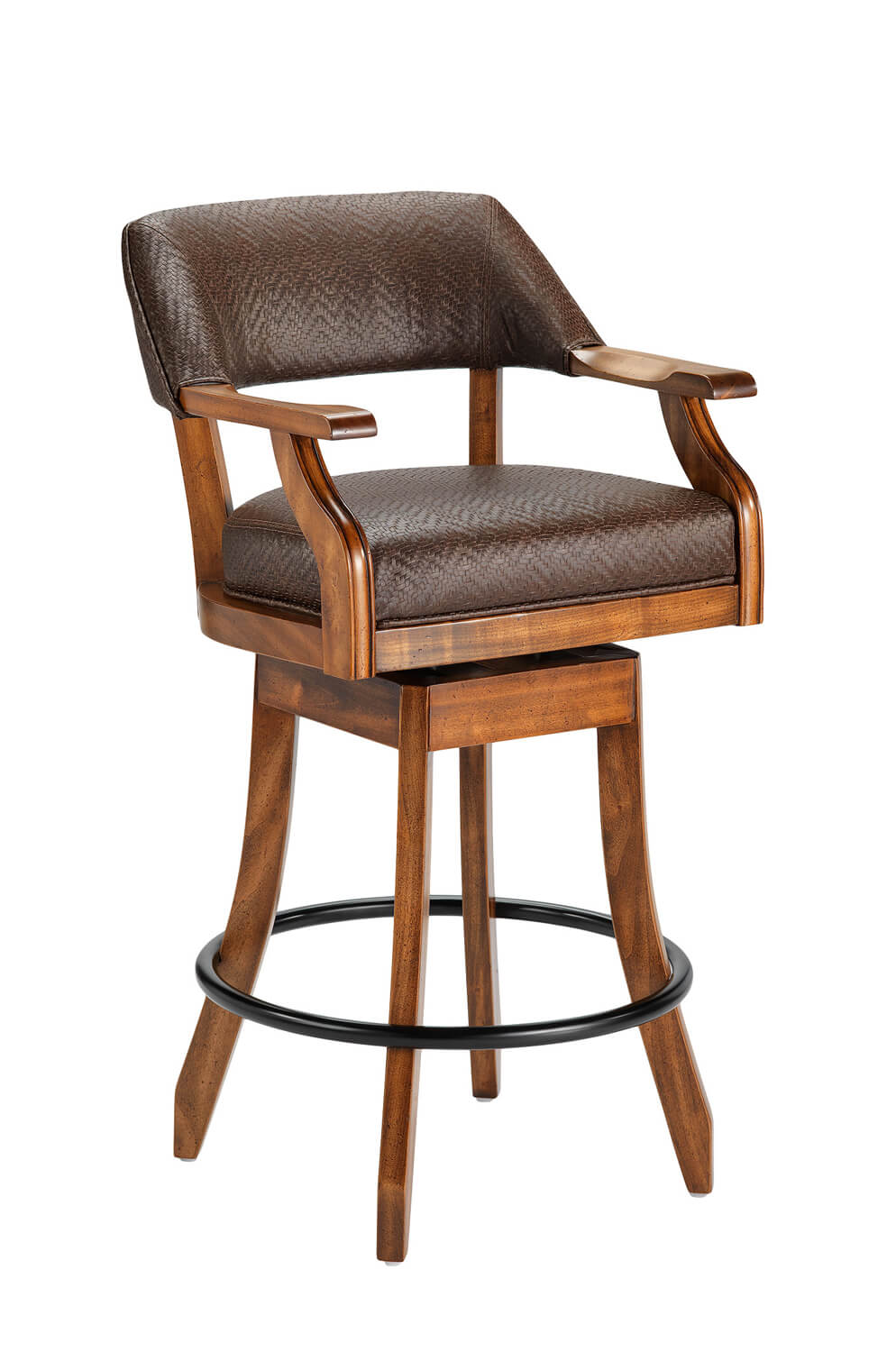 Buy Darafeev S Patriot Maple Wood Swivel Stool W Arms Free Shipping