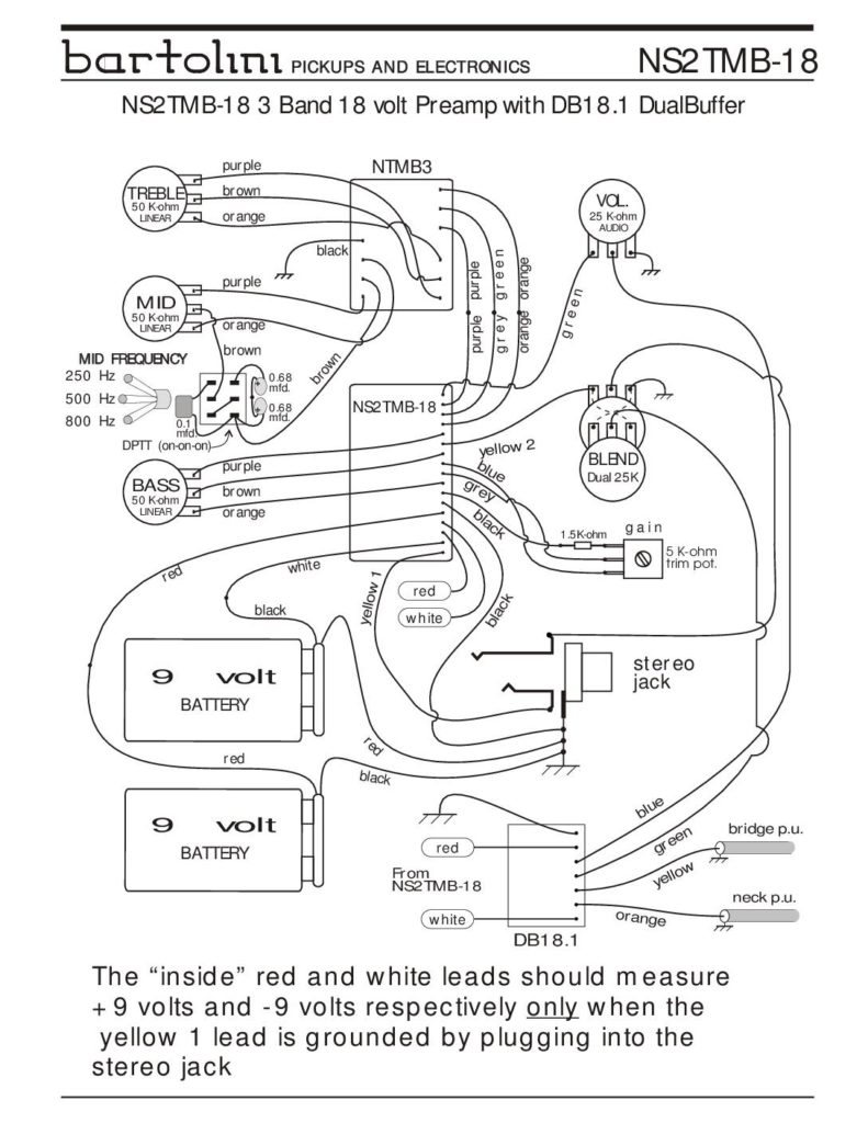 aguilar preamp wiring diagram