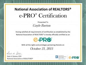 E-PRO Certificate