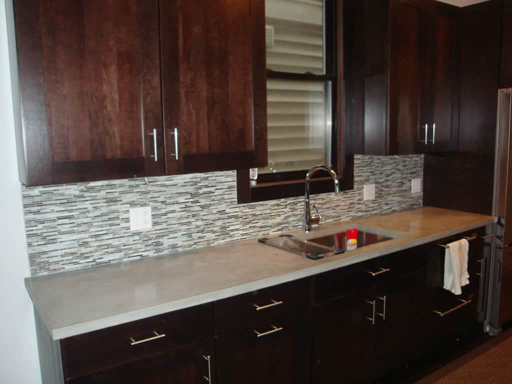 Stainless Steel Countertop Trim Contemporary Kitchen Lakeview Barts Remodeling Chicago Il