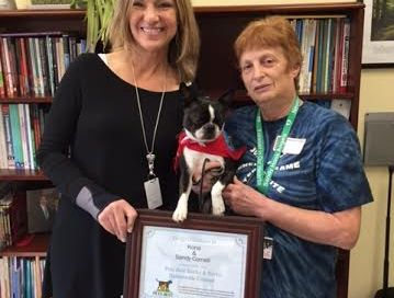 Newtown therapy dog wins first nationwide Books & Barks Contest