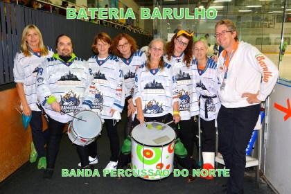Bateria Barulho in der q.beyond Arena als support für die Hamburg-Sailors, September 2021