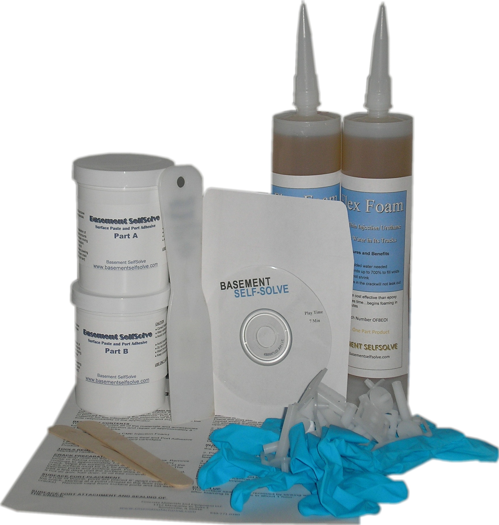 Epoxy Injection Epoxy Injection Concrete Wall Crack Repair Kit Basement