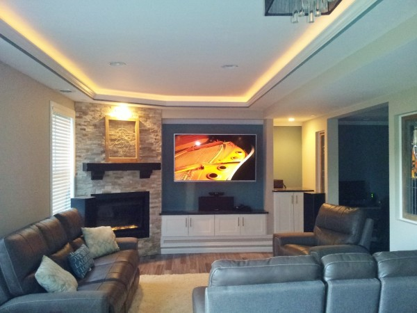 Rope Lighting With Crown Molding Ceiling Soffit Types - Basement Finish Design