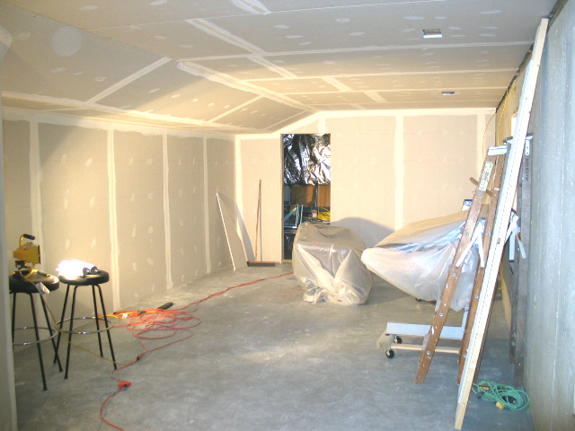 Theater Room Ideas Angled Soffit With Drywall