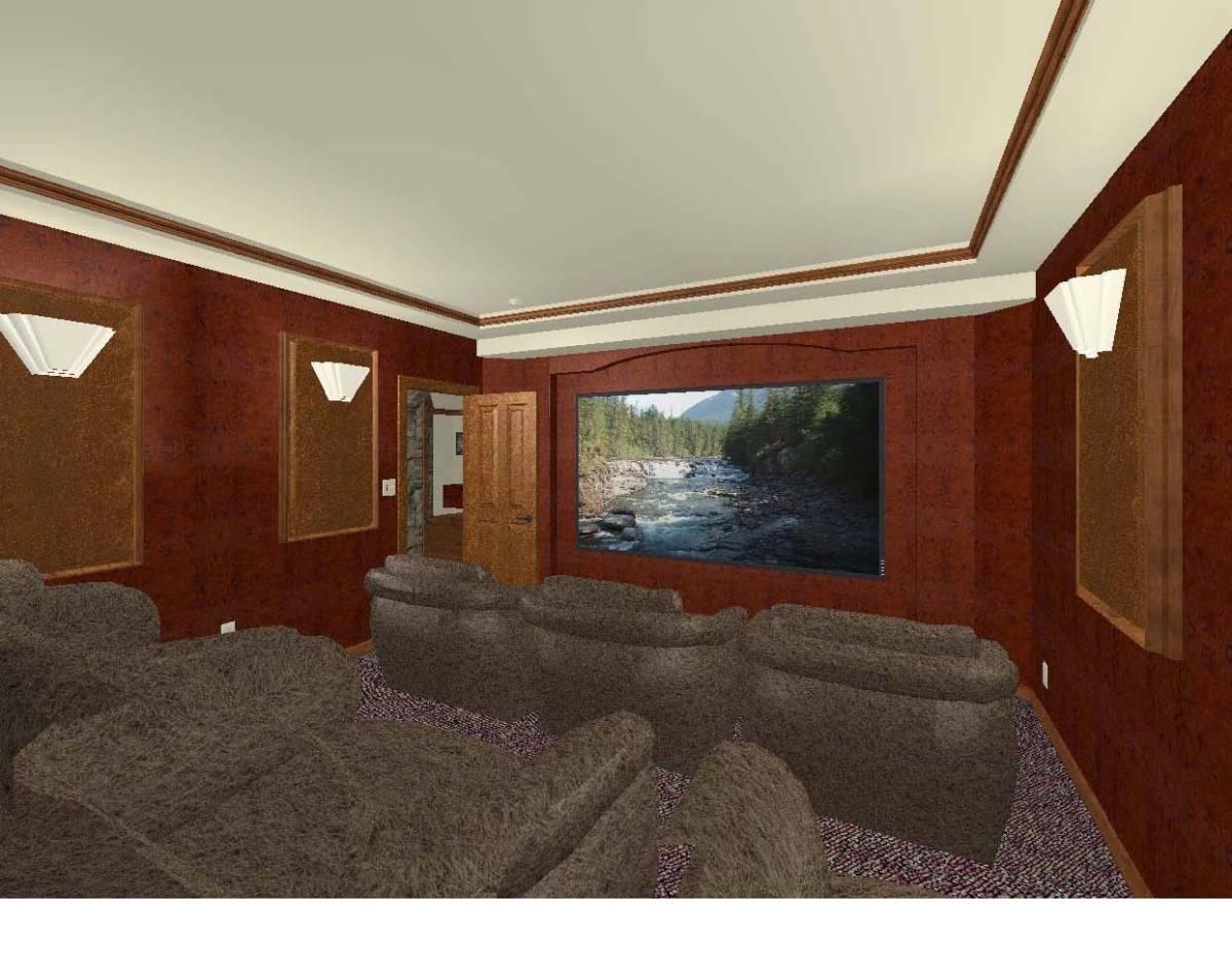 Basement home theater for Basement design software