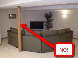 Hide Basement Support Columns How To Cover Basement Poles