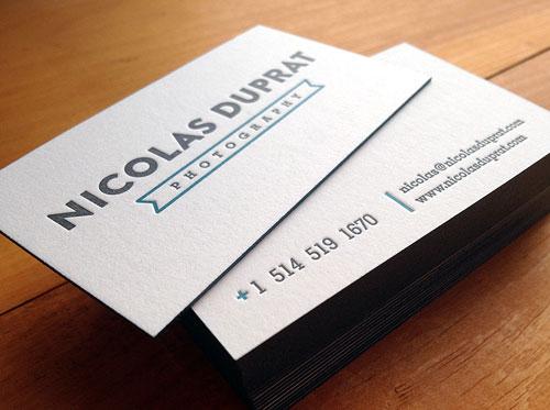 45 Inspiring Letterpress Business Cards Web  Graphic Design - letterpress business card