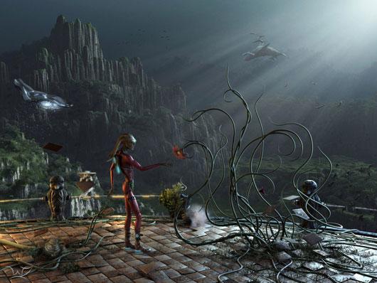 Nove Ber Fall Wallpaper For Computer 40 Amazing 3d Sci Fi Illustrations Web Amp Graphic Design