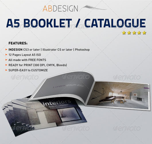 40 High Quality Brochure Design Templates Web  Graphic Design - free booklet template
