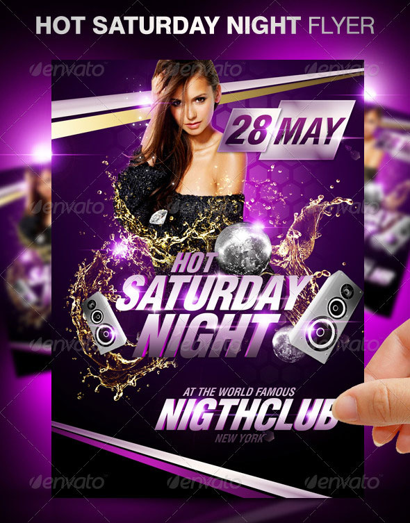 30 Vibrant  Colorful Party Flyer Templates \u2013 Web  Graphic Design