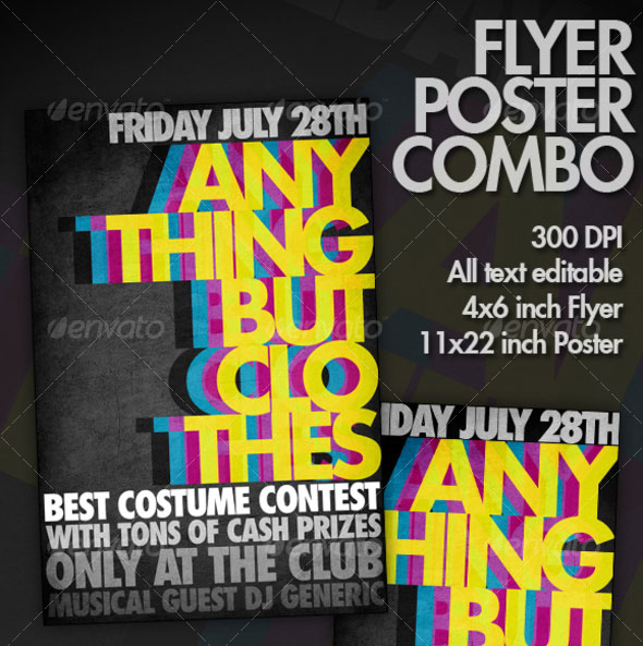 30 Vibrant  Colorful Party Flyer Templates Web  Graphic Design - party brochure template