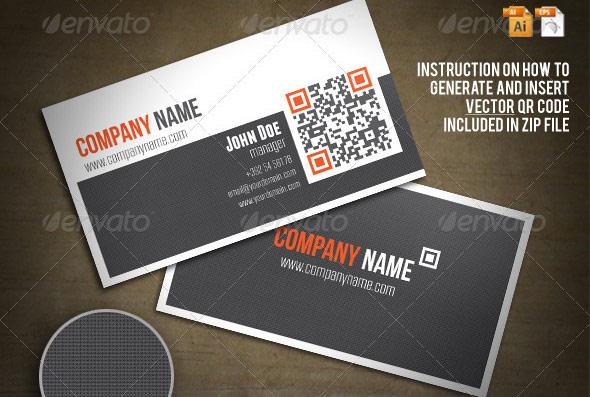 25 QR Code Business Card Templates Web  Graphic Design Bashooka