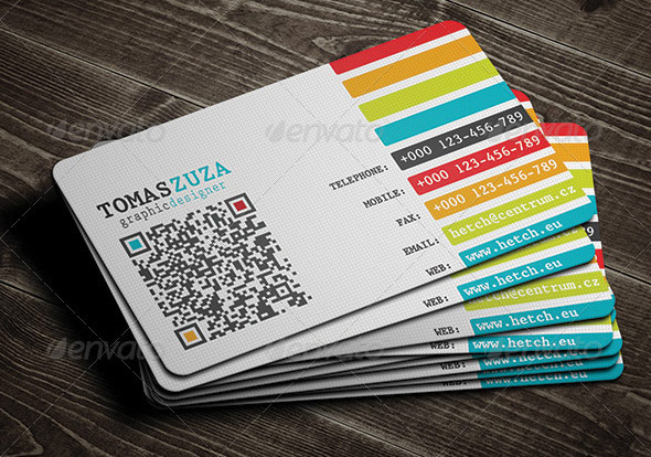 25 QR Code Business Card Templates \u2013 Web  Graphic Design on Bashooka