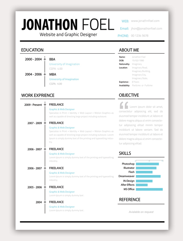Sample Essays - University of Bradford School of Management Solved - Simple Graphic Design Resume