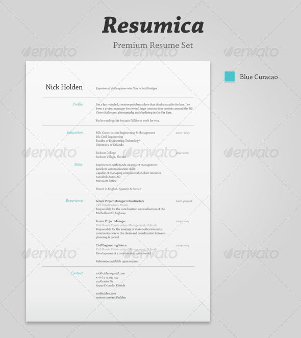 resume templates indesign cs4 free flat resume template stockindesign resumica resume set is a modern stylish