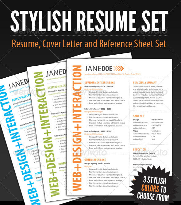20 Best Resume Templates Web \ Graphic Design Bashooka - stand out resume templates