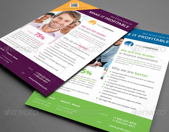 20+ InDesign Flyer Templates For Business \u2013 Web  Graphic Design on