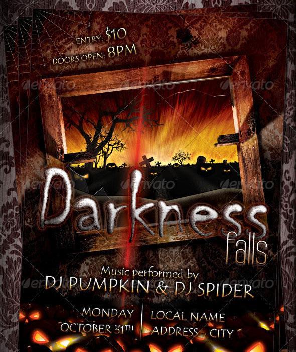 23 Wicked Halloween PSD Flyer Templates Web  Graphic Design - halloween flyer template