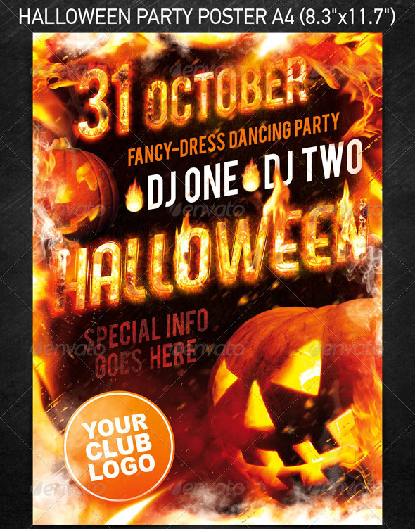 23 Wicked Halloween PSD Flyer Templates Web  Graphic Design