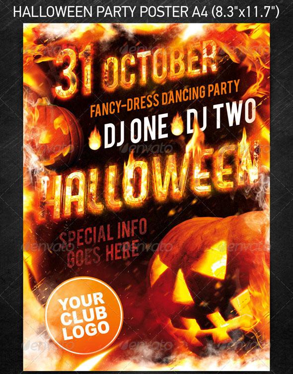 23 Wicked Halloween PSD Flyer Templates \u2013 Web  Graphic Design on