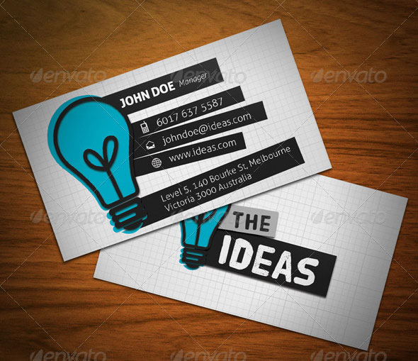 15 Typography Business Card Templates \u2013 Web  Graphic Design on Bashooka