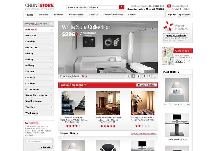 40 Best E-Commerce Website Templates Web  Graphic Design Bashooka