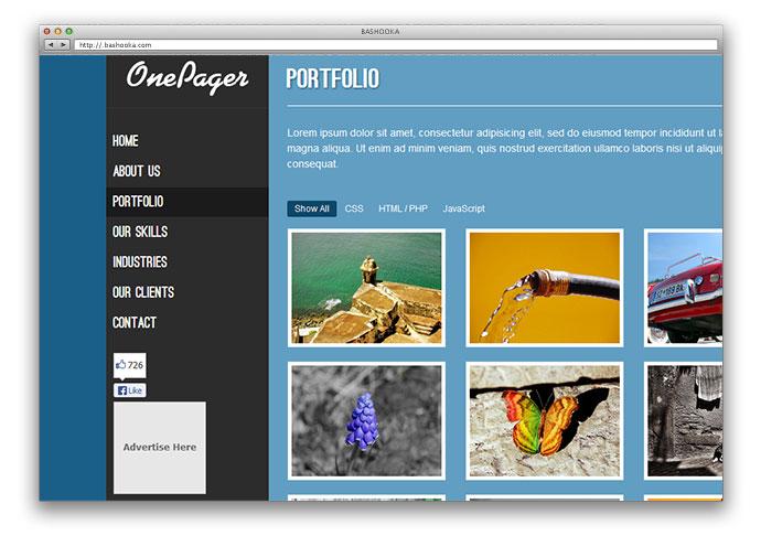 25 Free HTML Portfolio Website Templates \u2013 Web  Graphic Design on