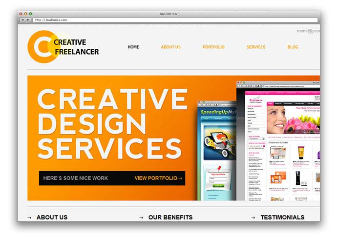25 Free HTML Portfolio Website Templates Web  Graphic Design - online portfolio template