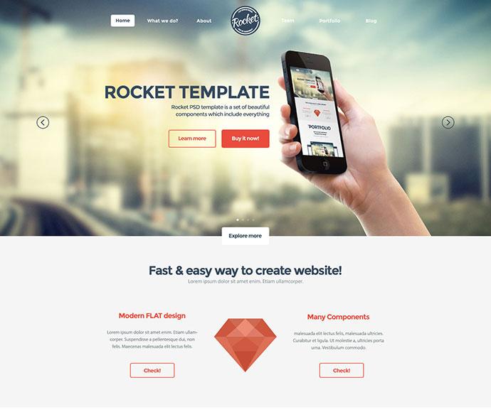 65 Flat PSD Website Templates Web  Graphic Design Bashooka - how to create a website template