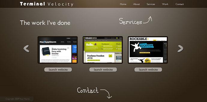 60 Best Single Page Website Templates Web  Graphic Design Bashooka - interactive website template