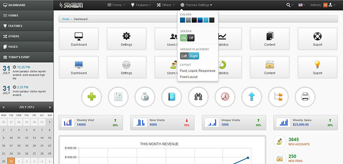 46 Free  Premium Bootstrap Admin Templates \u2013 Web  Graphic Design