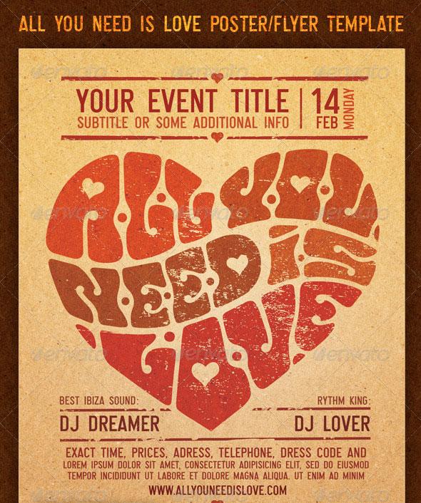 25 Retro  Vintage PSD Flyer Templates Web  Graphic Design Bashooka