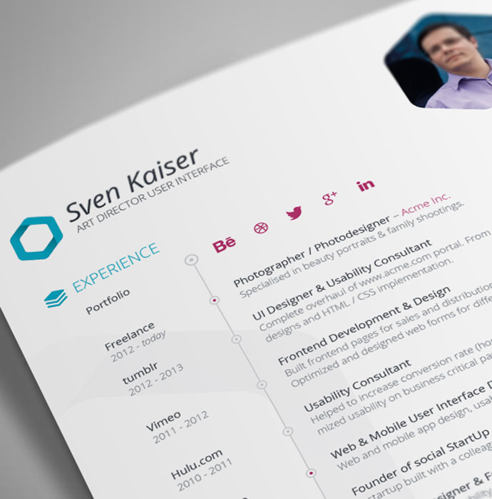 28 Free CV Resume Templates ( HTML PSD  InDesign ) Web  Graphic - awesome resume templates free