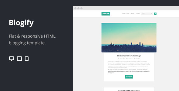 70 Flat Responsive HTML Website Templates \u2013 Web  Graphic Design on