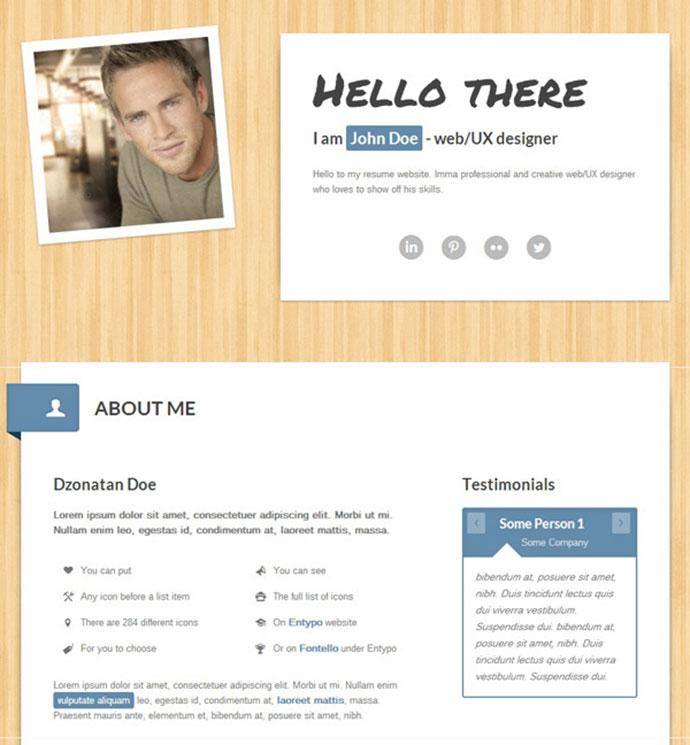 50 Professional HTML Resume Templates Web  Graphic Design Bashooka - web resume