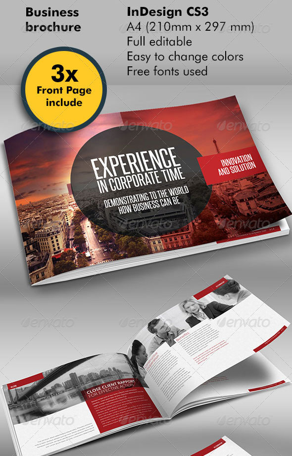 30 High Quality InDesign Brochure Templates \u2013 Web  Graphic Design