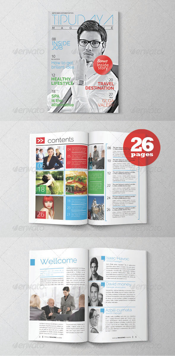 34 High Quality PSD  InDesign Magazine Templates \u2013 Web  Graphic