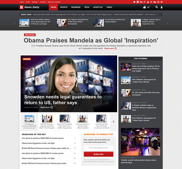 Online Newspaper Template Choice Image - Template Design Ideas - online newspaper template