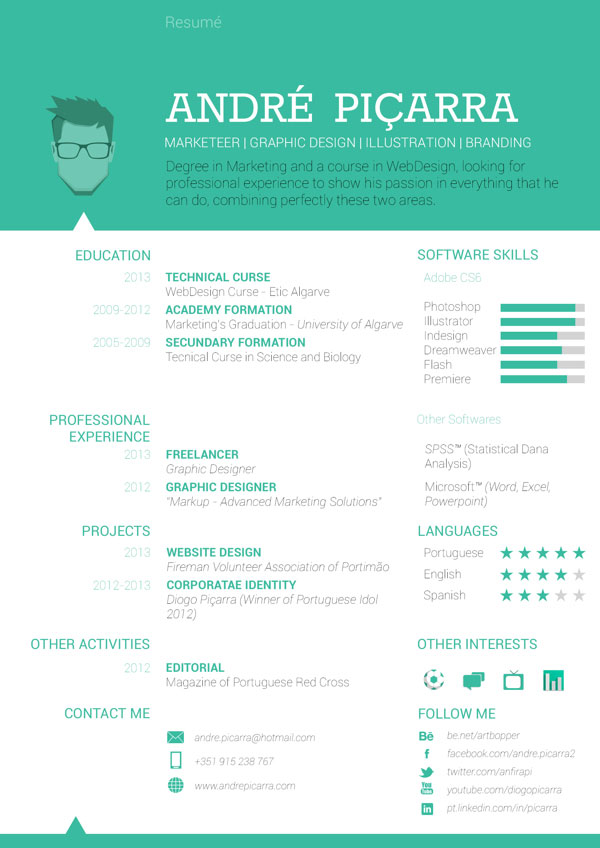 cv inspiration design dev web